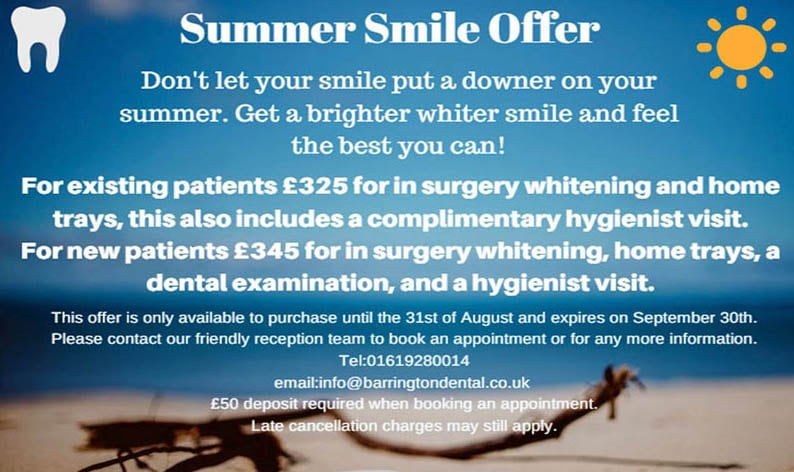summer smile whitening offer in altrincham